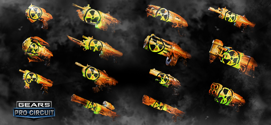 Gears Esports Nuclear Skins