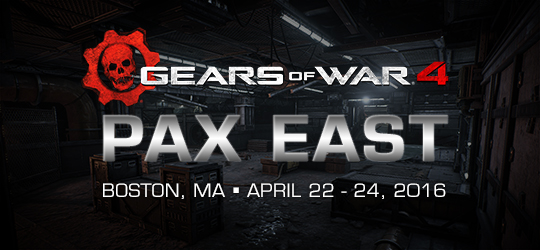 Gears of War 4 at PAX East, April 22-24