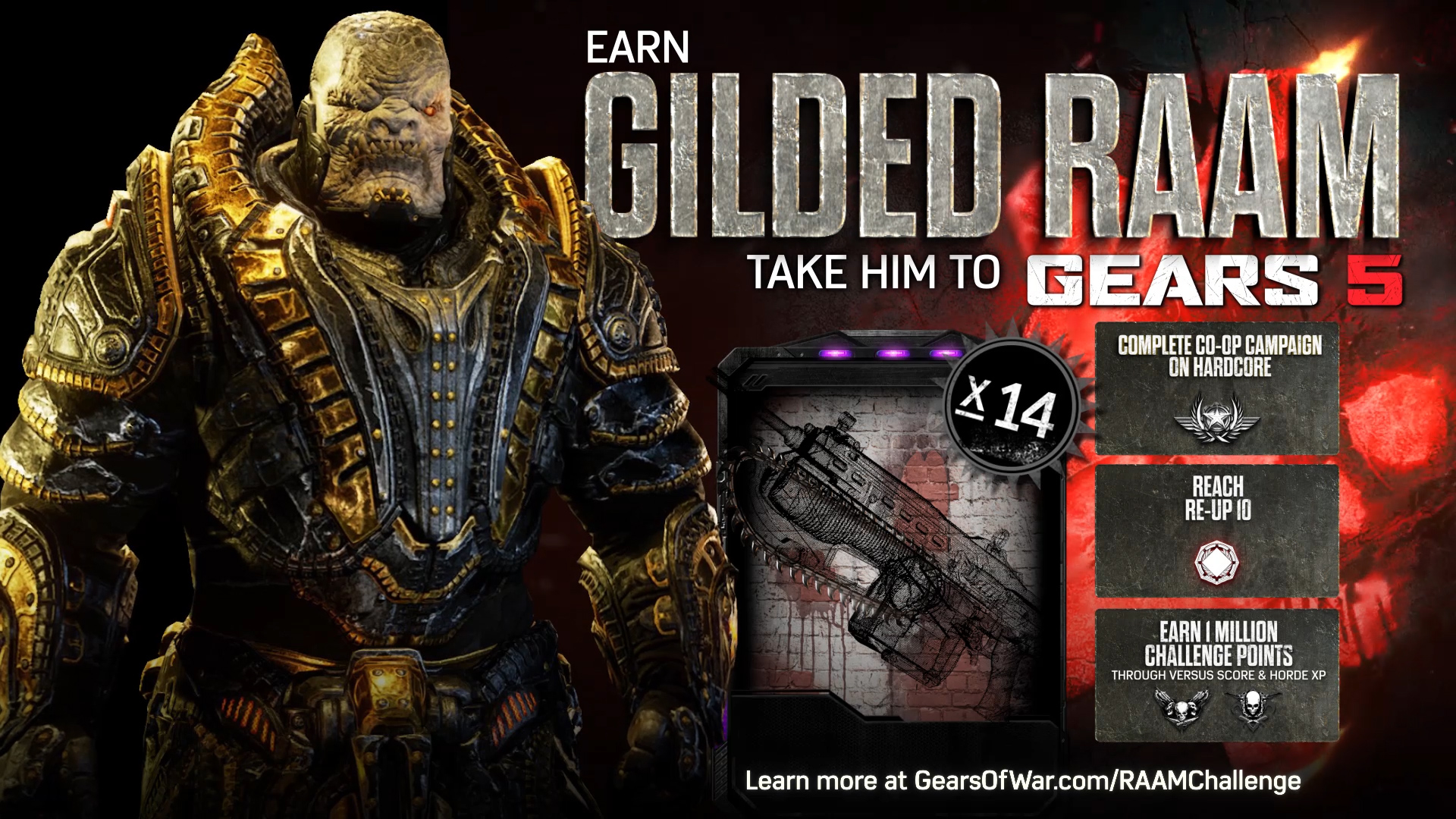 Gears of War 4 - Gilded RAAM Challenge Trailer