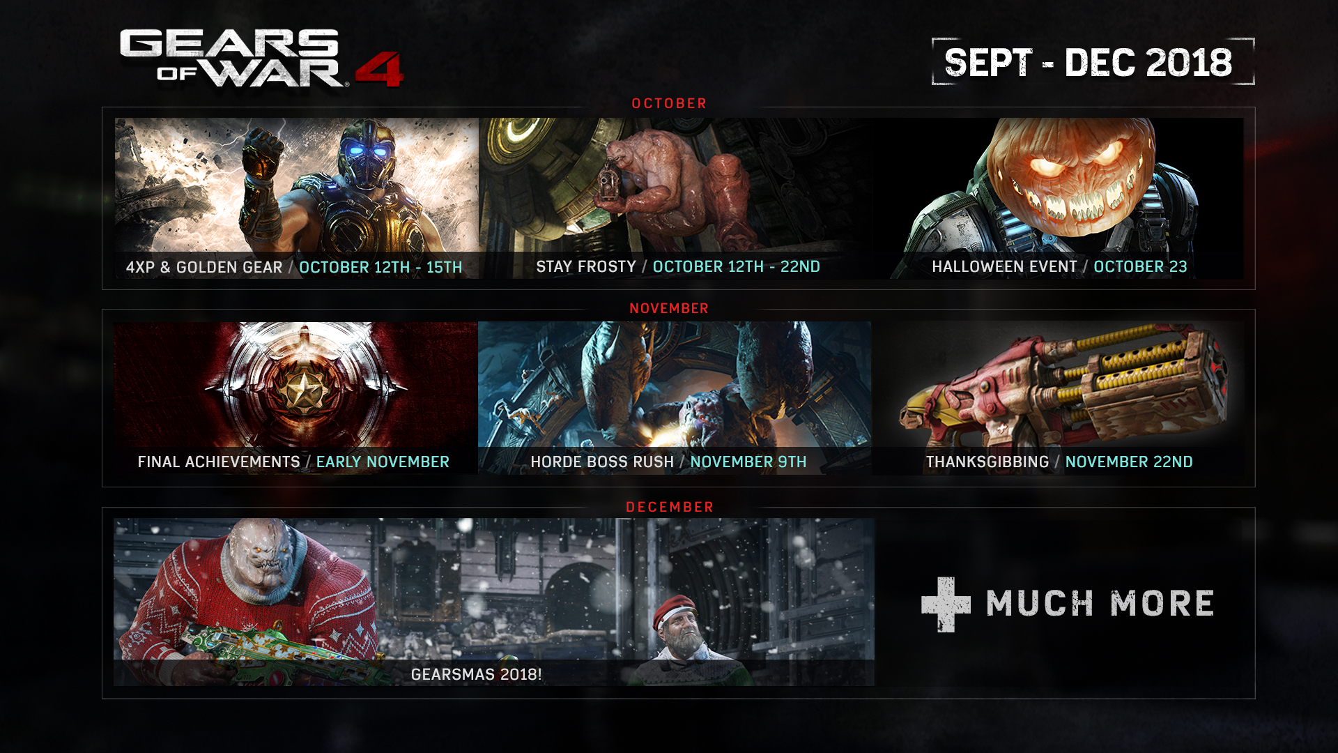 Gears of War 4 Events 2019